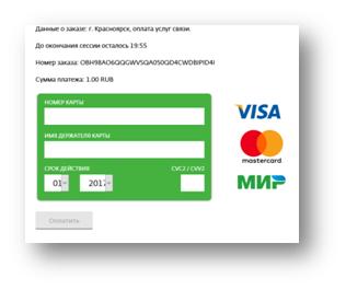 банковская карта оплатить домру